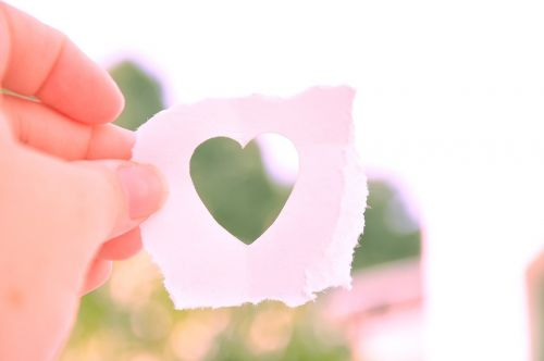 heart cut out paper