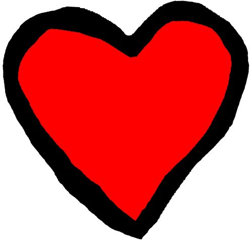 heart red black
