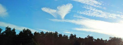 heart cloud sky
