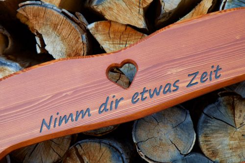 heart time wood