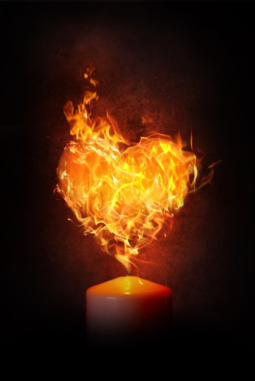 heart fire flame