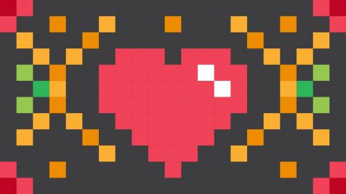 heart pixel square