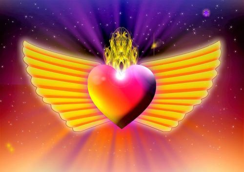heart flames love