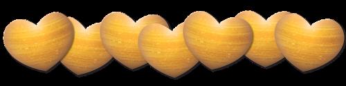 heart shimmer gold