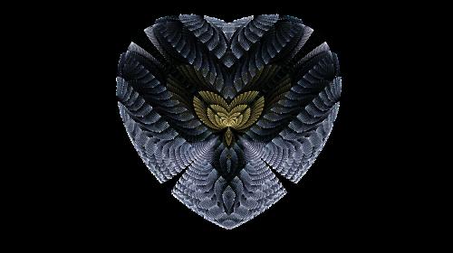 heart blue fractal