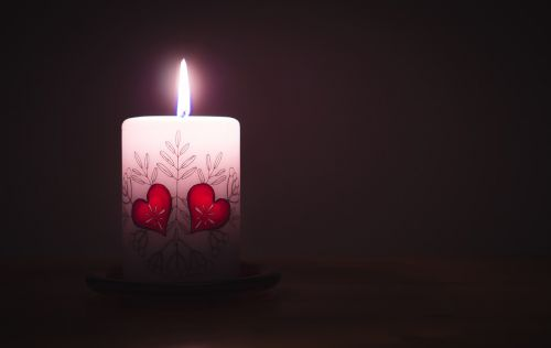 heart candle flame