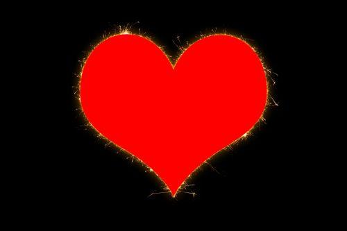 heart sparkle shine