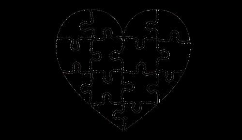 heart puzzle portrait