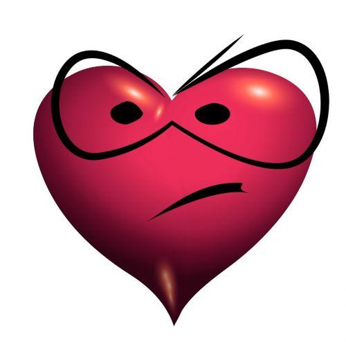 heart mecontent unsatisfied