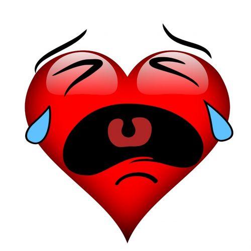 heart burst into tears tears