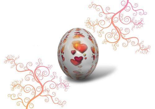 heart egg kringel