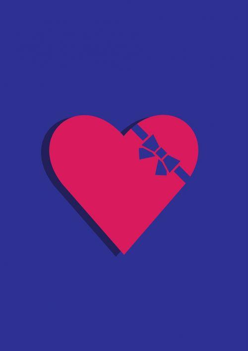 heart ribbon love