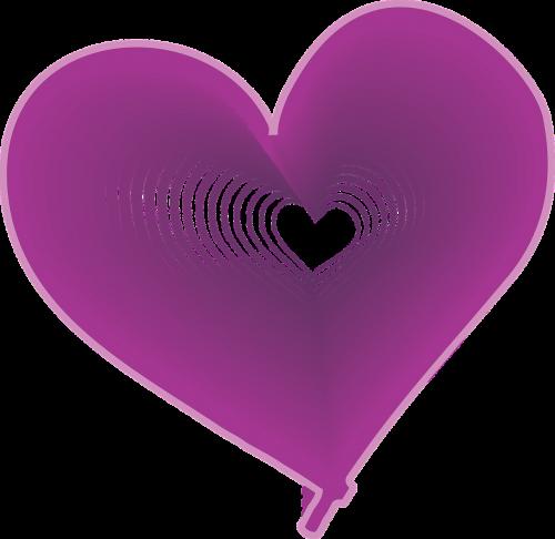 heart purple expanding