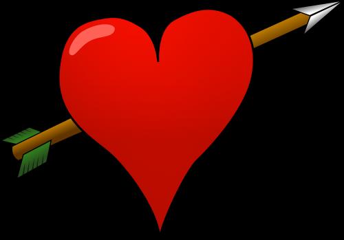 heart cupid pierced