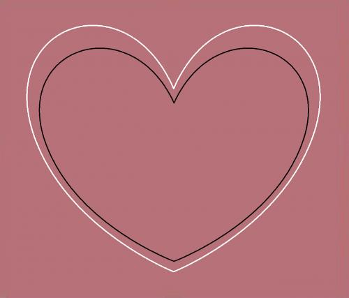 heart rosa passion