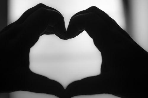 heart black and white black