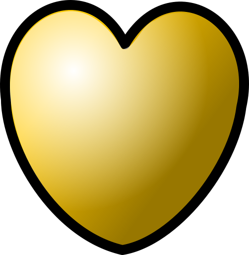 heart gold valentine