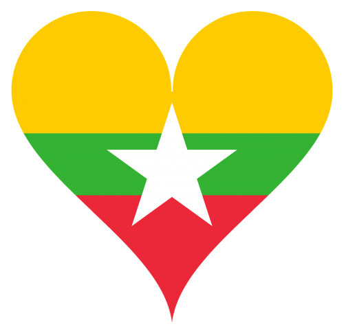 heart love myanmar