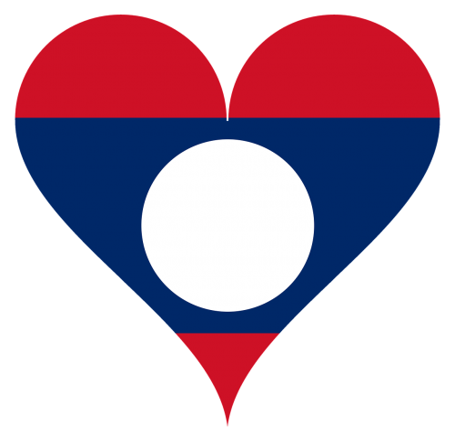 heart love laos