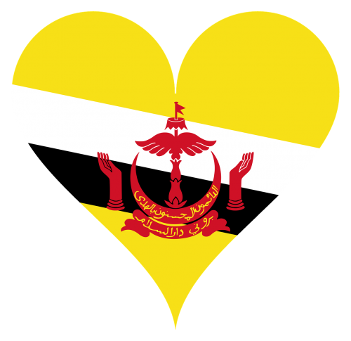heart love brunei