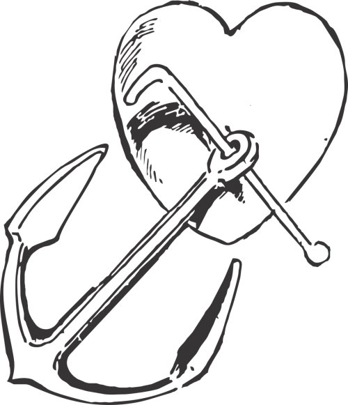 heart anchor vintage