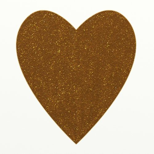 heart golden shapes