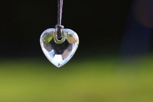 heart glass light