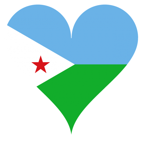heart love flag