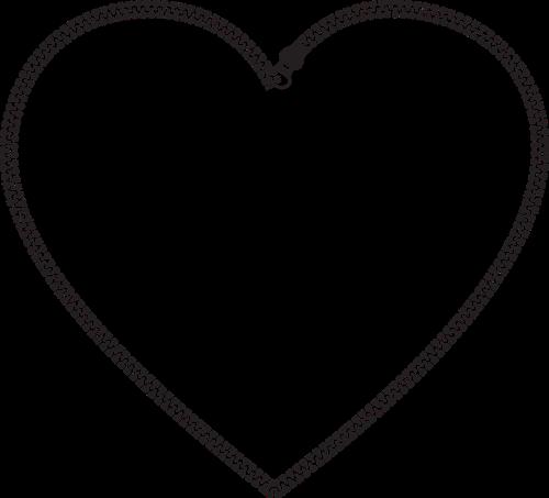 heart zipper metal fastener