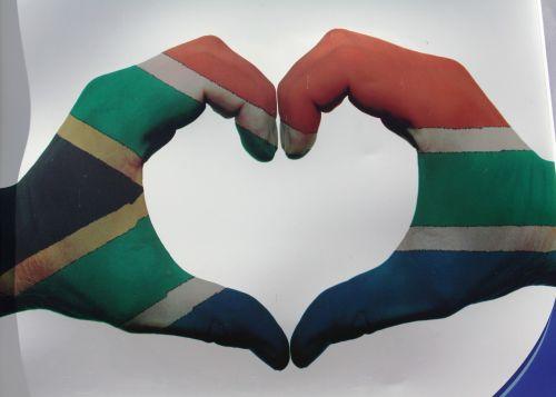 heart south africa flag love symbol