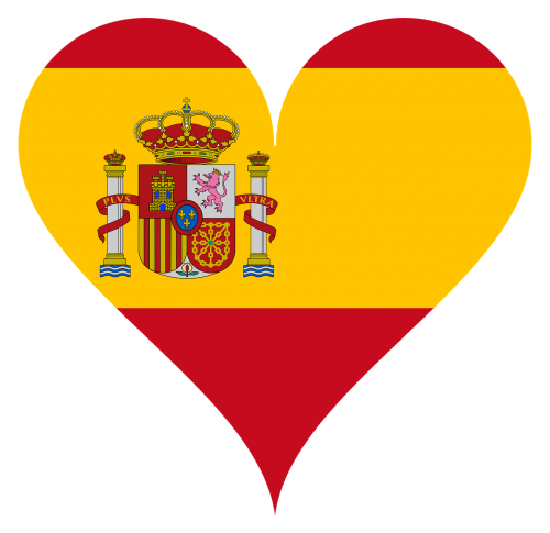 heart love spain