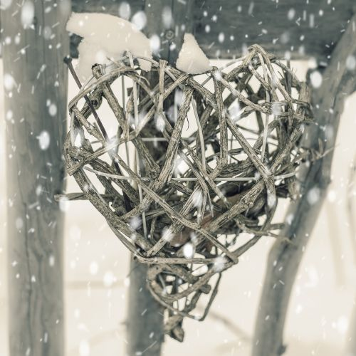heart winter snow