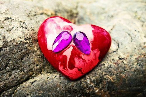 heart jewelry brooch