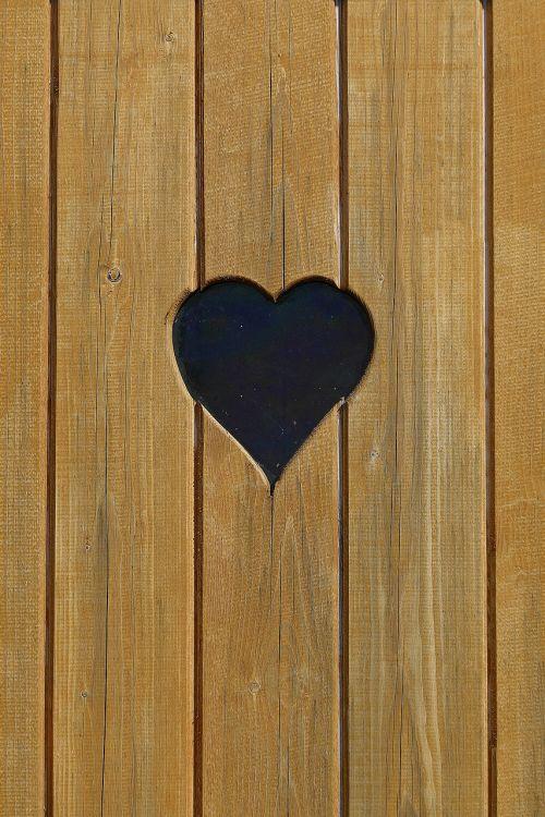 heart loo wood