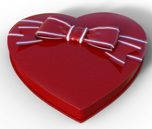 heart chocolates gift