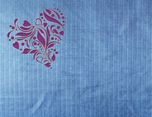 heart jeans fabric