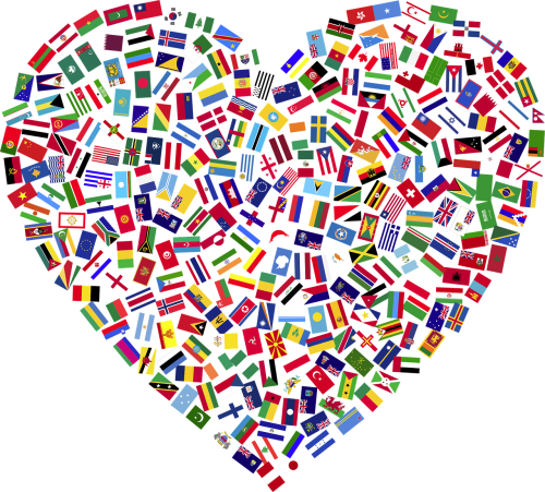 heart flags countries