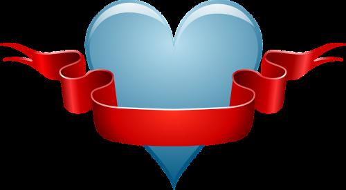 heart love ribbon