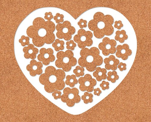 heart  texture cork  romantic
