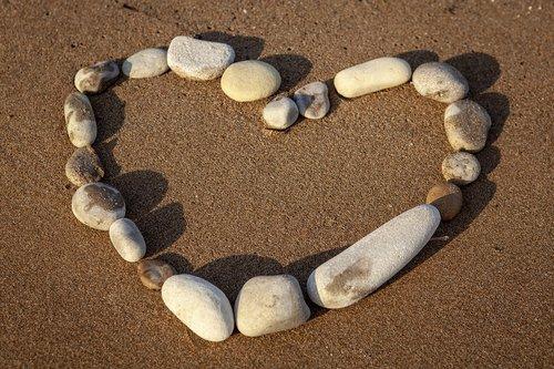 heart  love  beach
