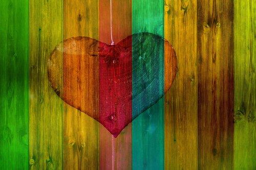 heart  love  wood