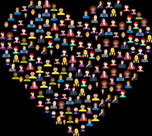 heart  avatars  people
