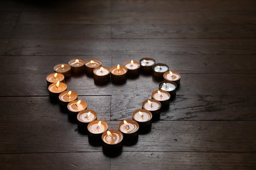 heart  candle  love