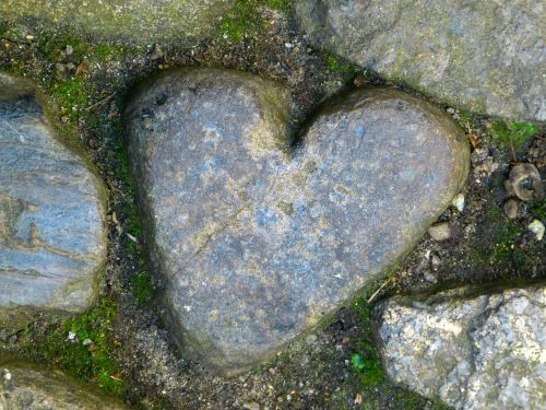heart st michael's mount stone
