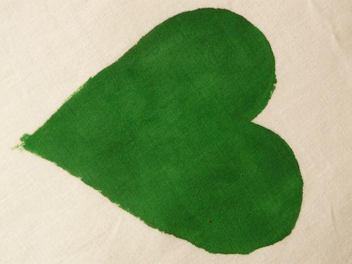 heart herzchen green