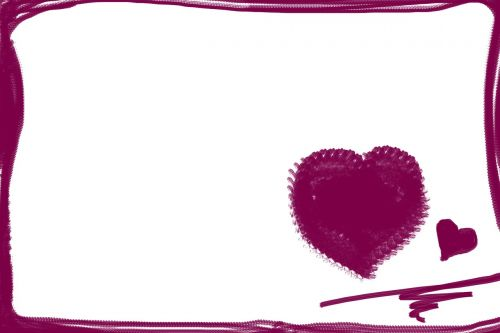 heart red stationery
