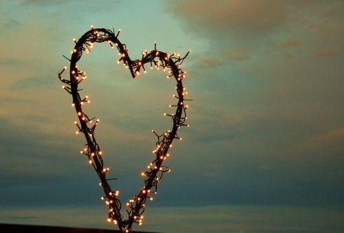 heart lichterkette love