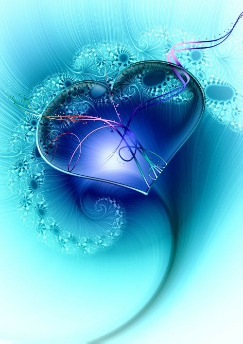 heart fractal fractals