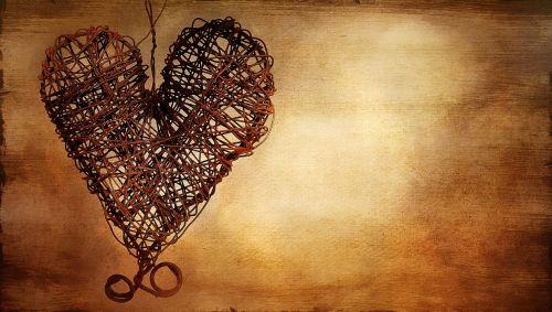 heart metal heart rusty heart