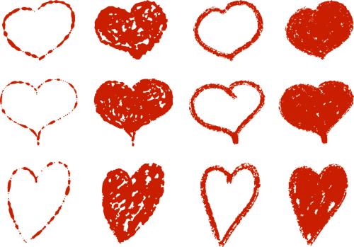 heart set jewelry